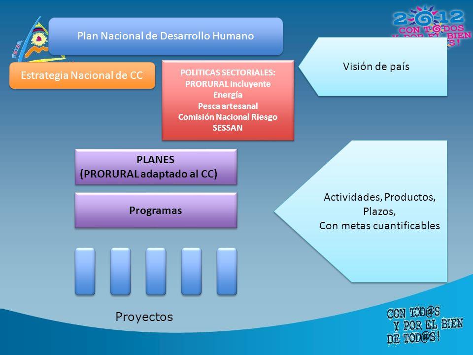 POLITICAS SECTORIALES: Comisión Nacional Riesgo