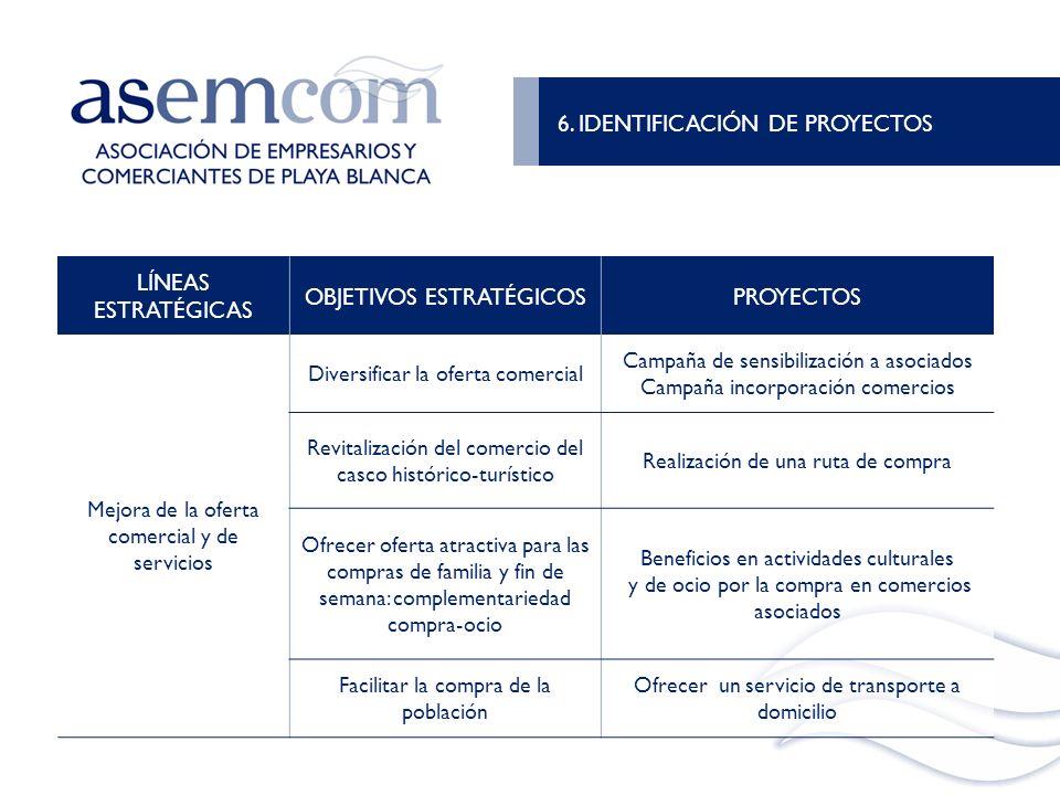6. IDENTIFICACIÓN DE PROYECTOS LÍNEAS ESTRATÉGICAS