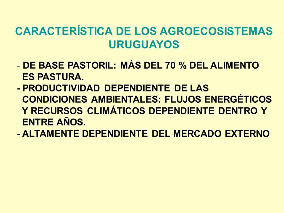 CARACTERÍSTICA DE LOS AGROECOSISTEMAS