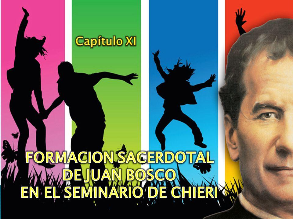 FORMACION SACERDOTAL DE JUAN BOSCO EN EL SEMINARIO DE CHIERI
