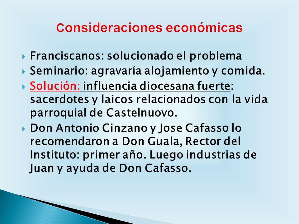 Consideraciones económicas