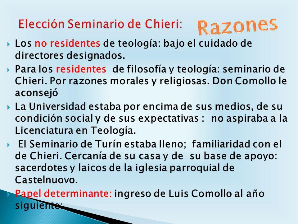 Elección Seminario de Chieri: