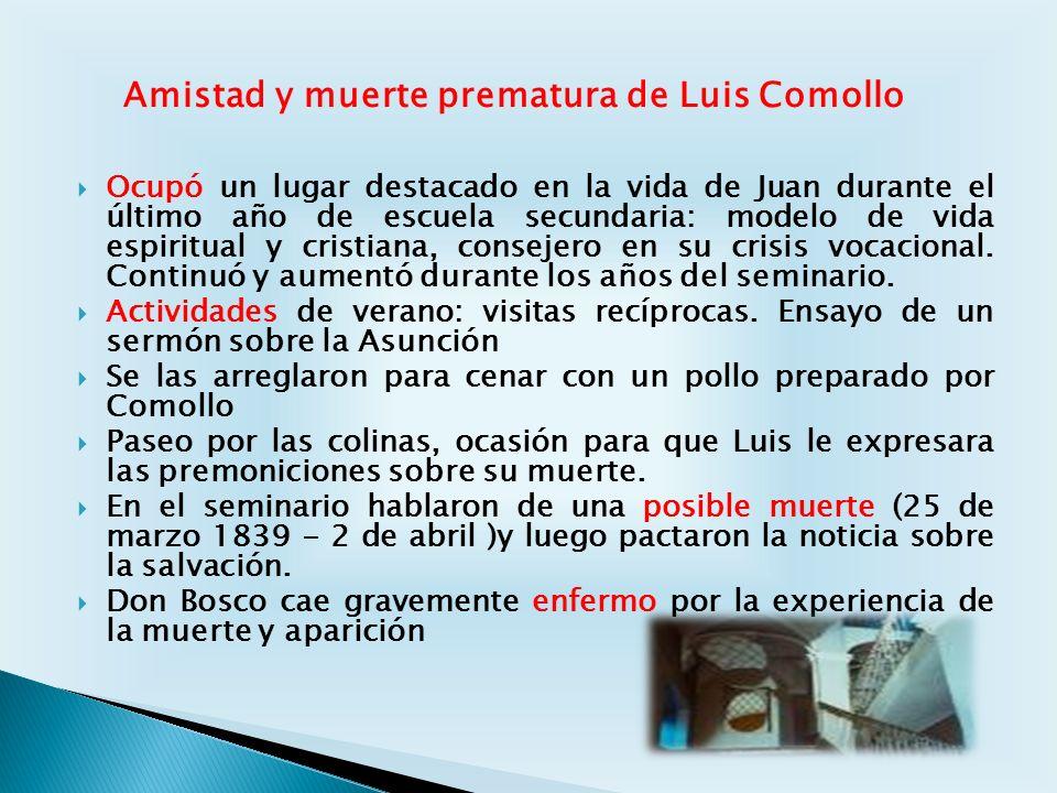 Amistad y muerte prematura de Luis Comollo