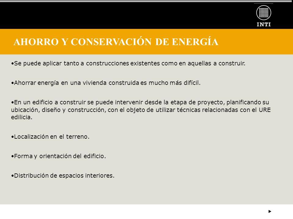 AHORRO Y CONSERVACIÓN DE ENERGÍA