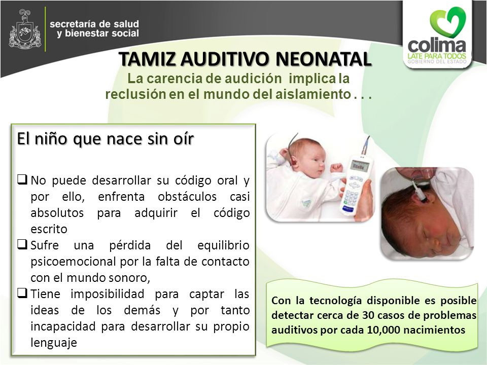 TAMIZ AUDITIVO NEONATAL