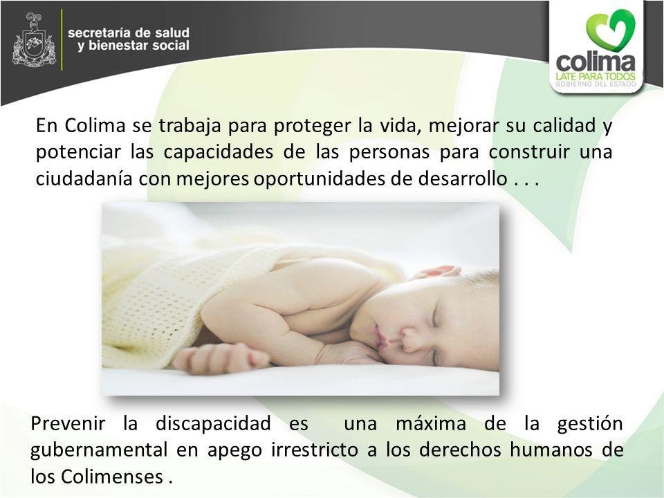 En Colima se trabaja para proteger la vida, mejorar su calidad y potenciar las capacidades de las personas para construir una ciudadanía con mejores oportunidades de desarrollo . . .