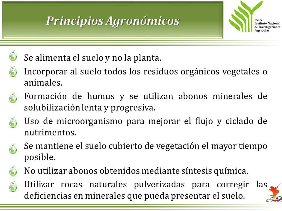 Principios Agronómicos