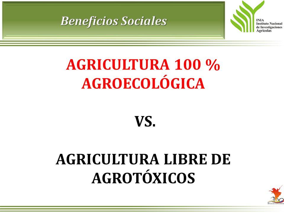 AGRICULTURA 100 % AGROECOLÓGICA AGRICULTURA LIBRE DE AGROTÓXICOS
