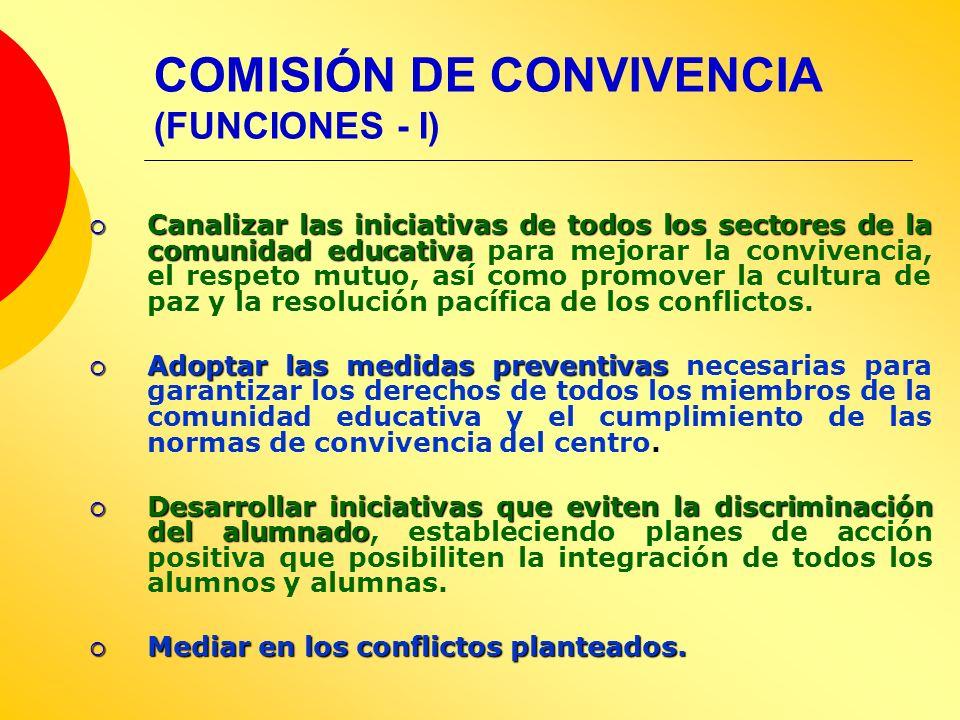 COMISIÓN DE CONVIVENCIA (FUNCIONES - I)