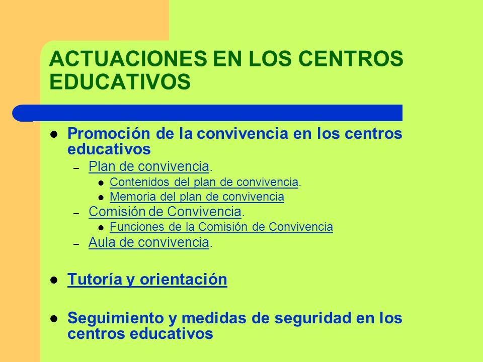 ACTUACIONES EN LOS CENTROS EDUCATIVOS