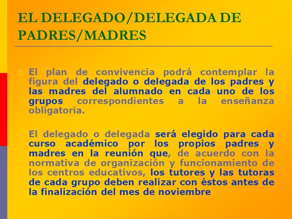 EL DELEGADO/DELEGADA DE PADRES/MADRES