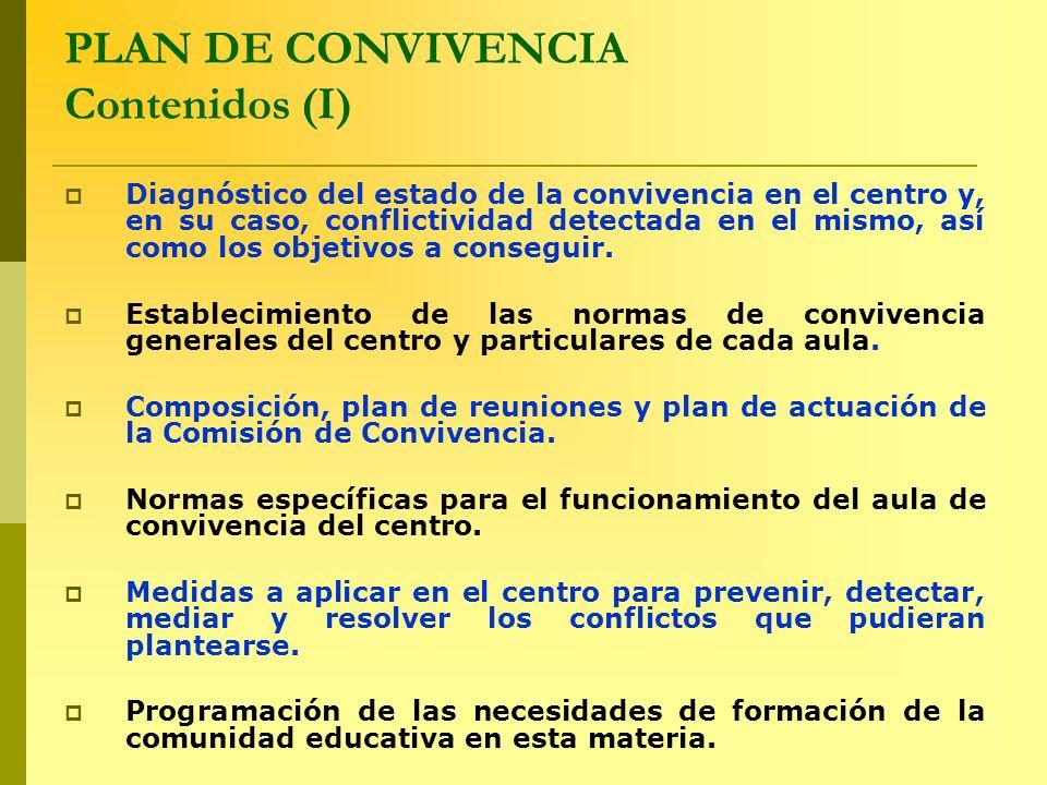 PLAN DE CONVIVENCIA Contenidos (I)