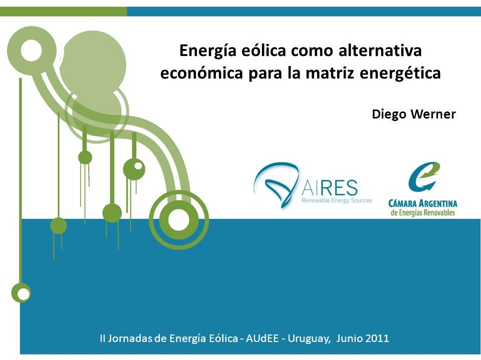 Energía eólica como alternativa económica para la matriz energética
