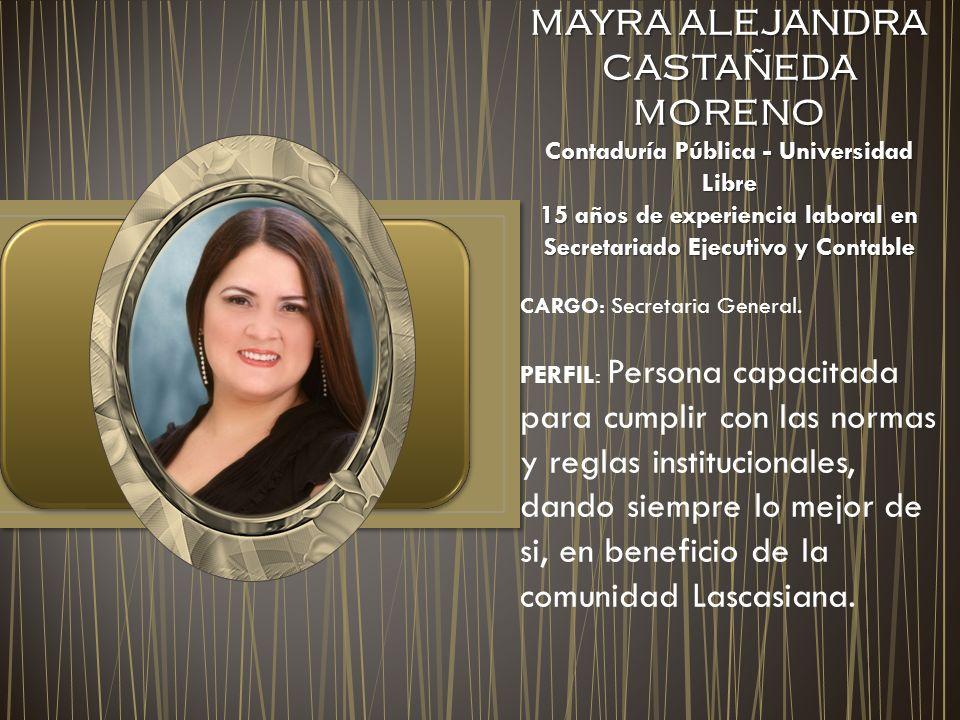 MAYRA ALEJANDRA CASTAÑEDA MORENO