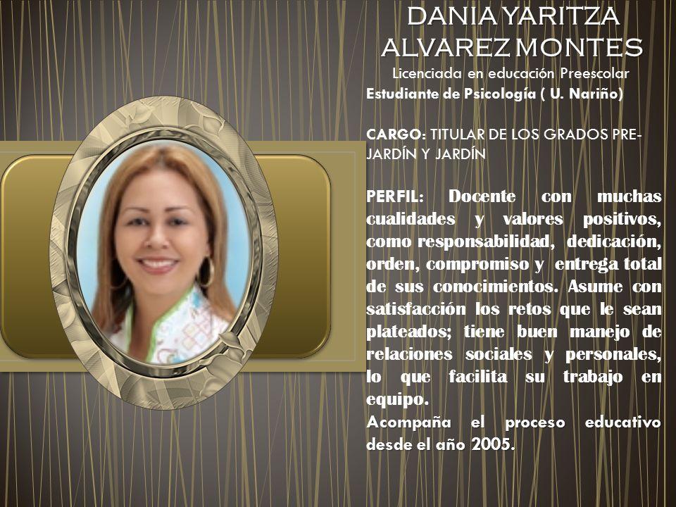 DANIA YARITZA ALVAREZ MONTES