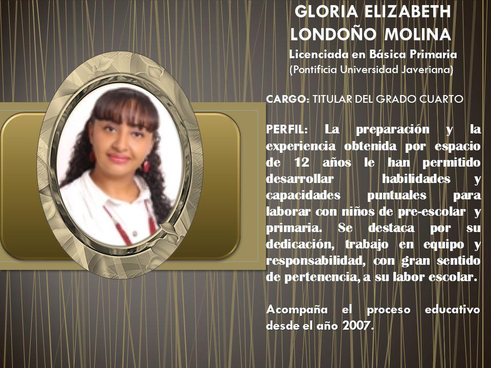 GLORIA ELIZABETH LONDOÑO MOLINA