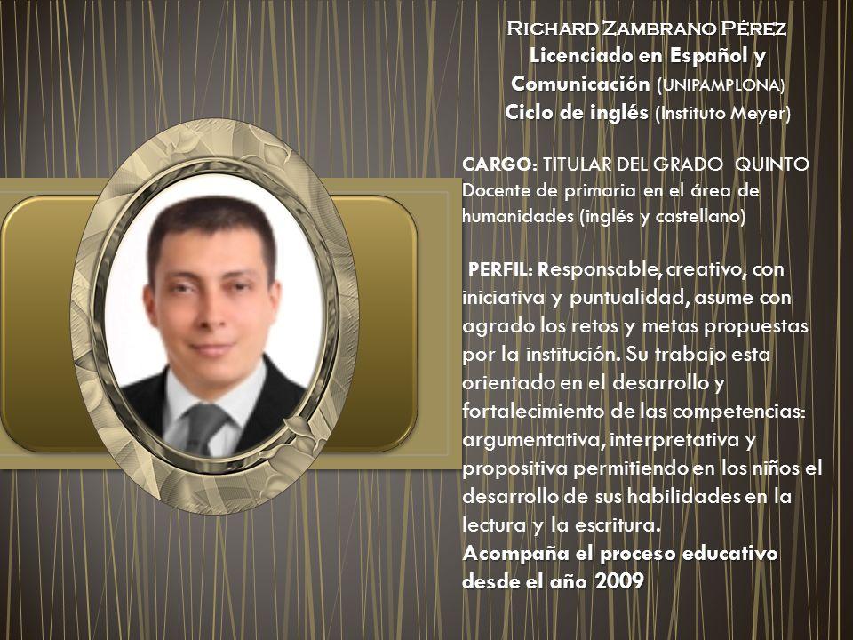 Licenciado en Español y Comunicación (UNIPAMPLONA)