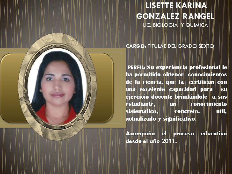 LISETTE KARINA GONZALEZ RANGEL