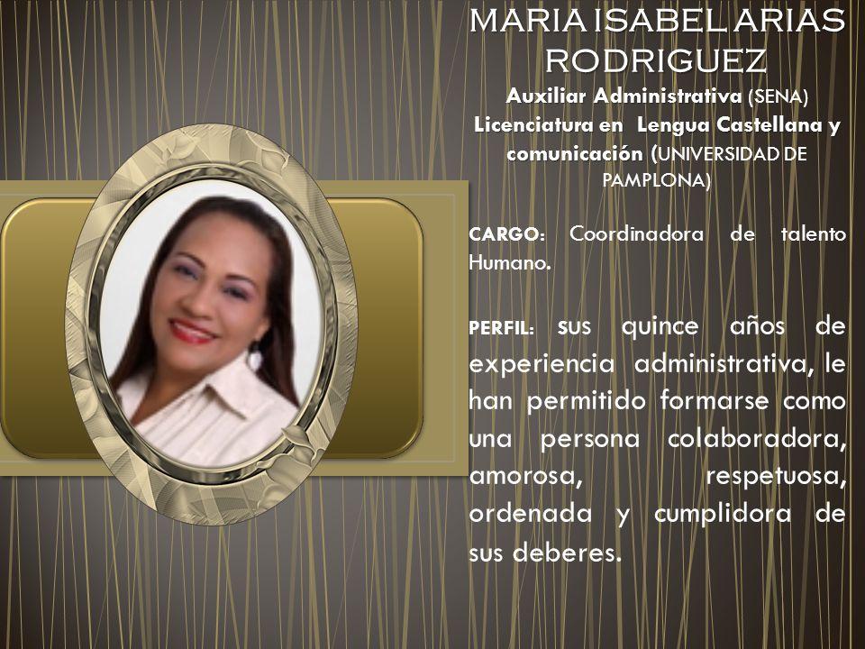 MARIA ISABEL ARIAS RODRIGUEZ