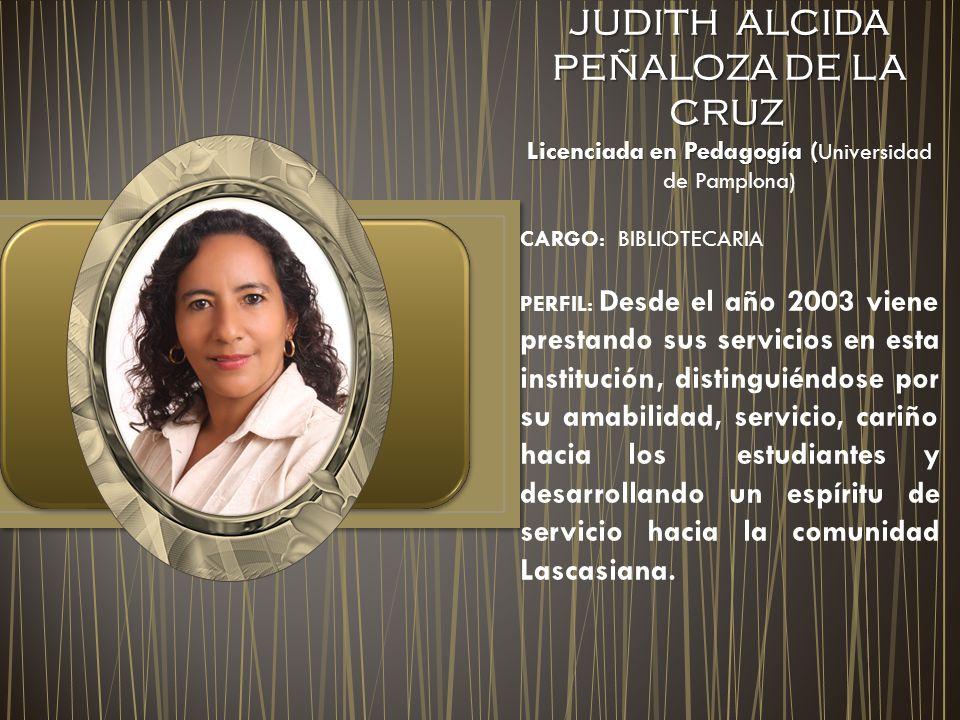 JUDITH ALCIDA PEÑALOZA DE LA CRUZ