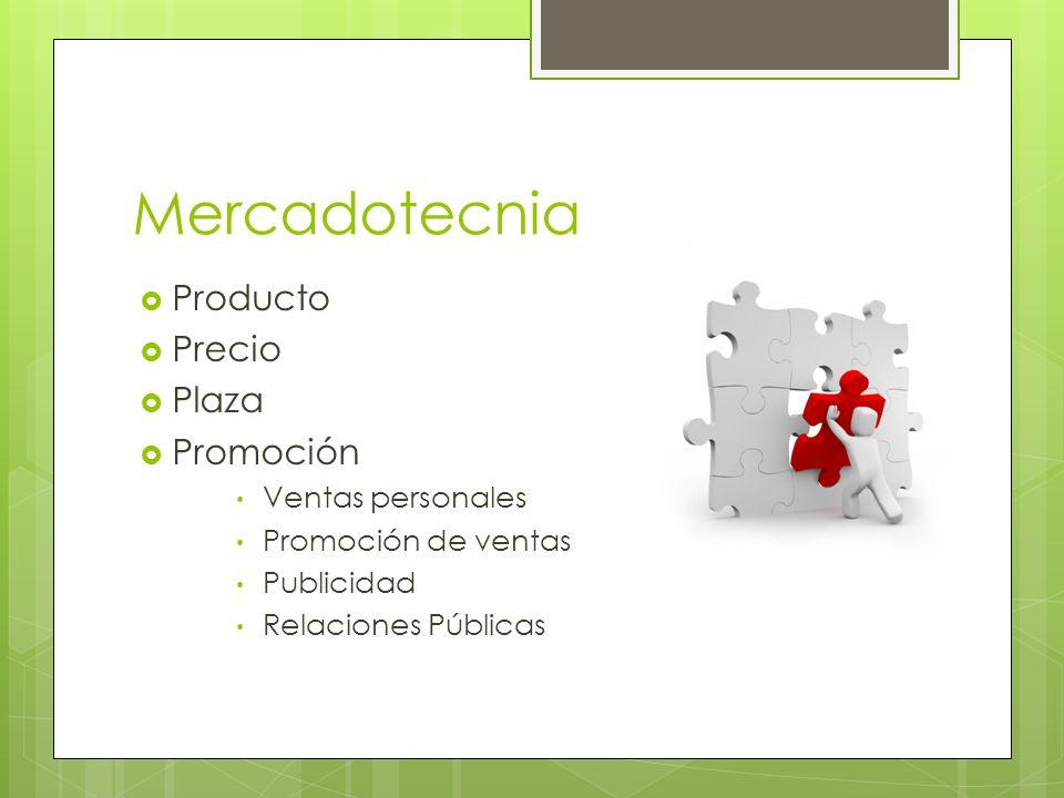 Mercadotecnia Producto Precio Plaza Promoción Ventas personales