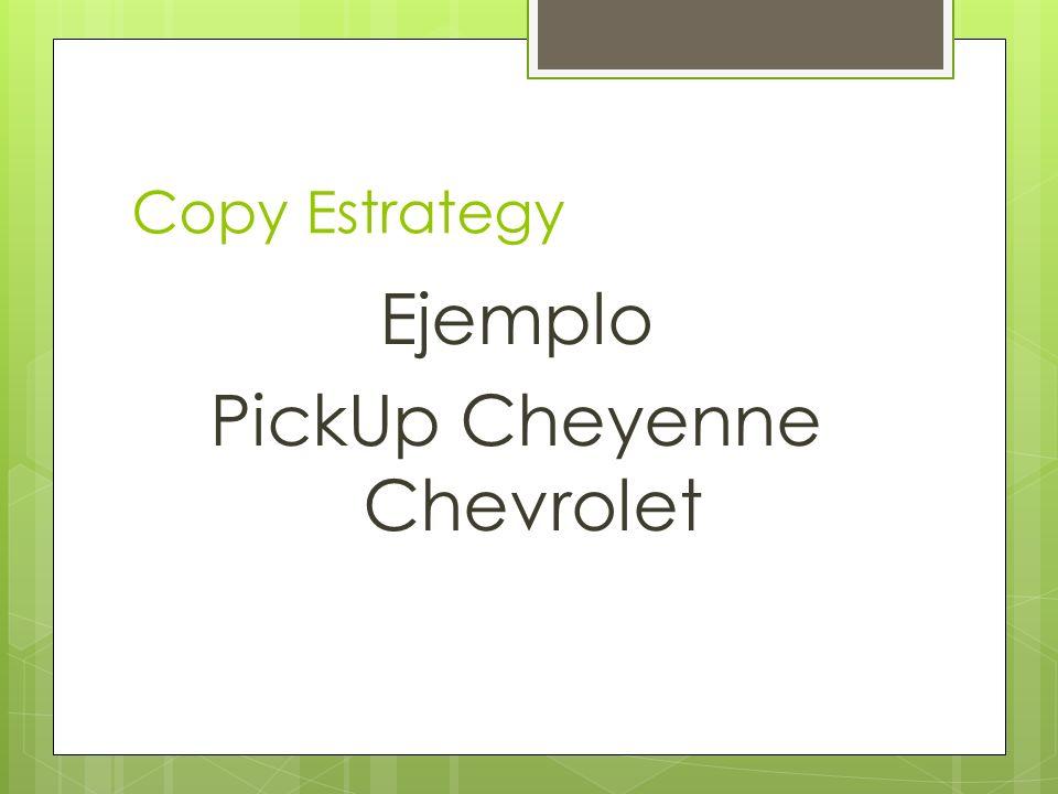 Ejemplo PickUp Cheyenne Chevrolet