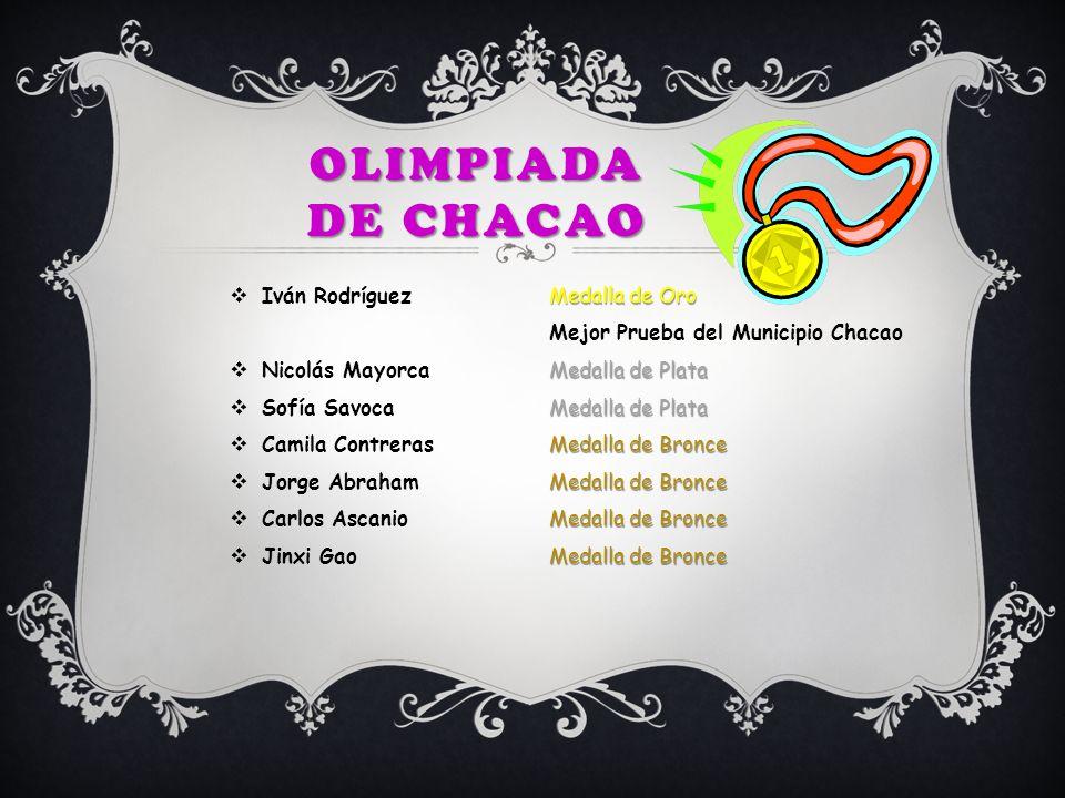 Olimpiada de chacao Iván Rodríguez Medalla de Oro