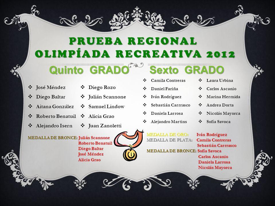 Prueba Regional Olimpíada Recreativa 2012