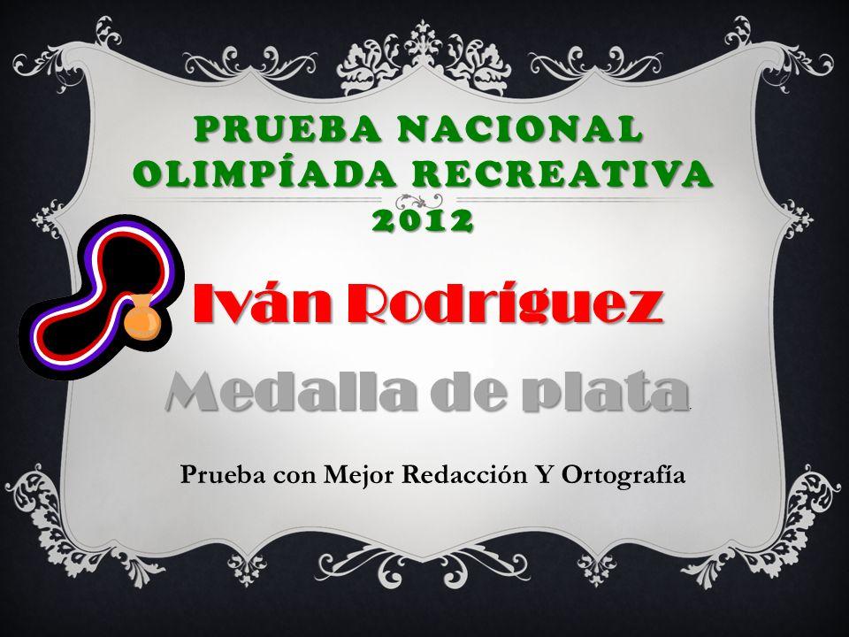 Prueba nacional Olimpíada Recreativa 2012