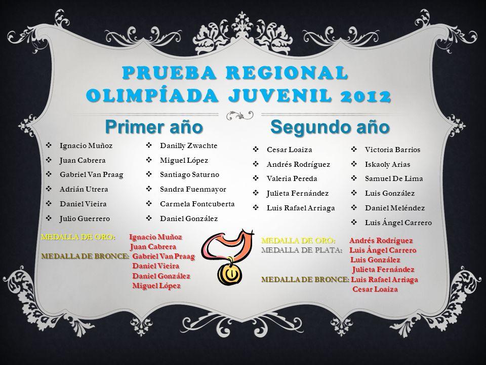 Prueba Regional Olimpíada juvenil 2012