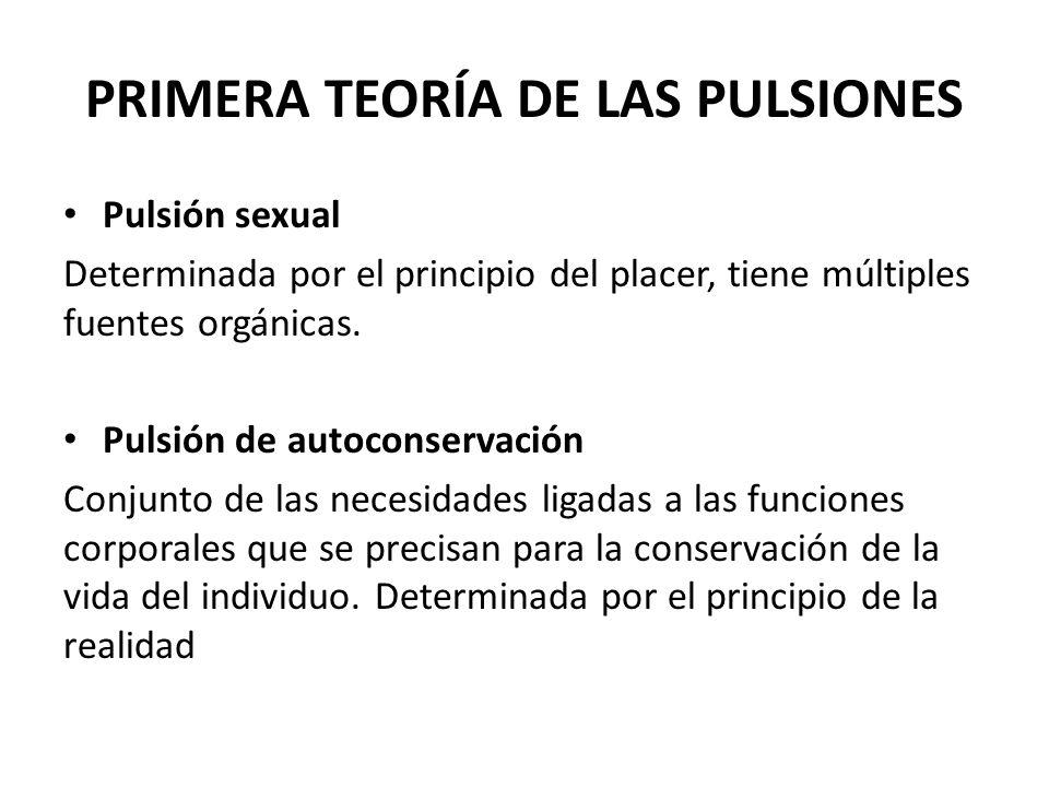 PRIMERA TEORÍA DE LAS PULSIONES