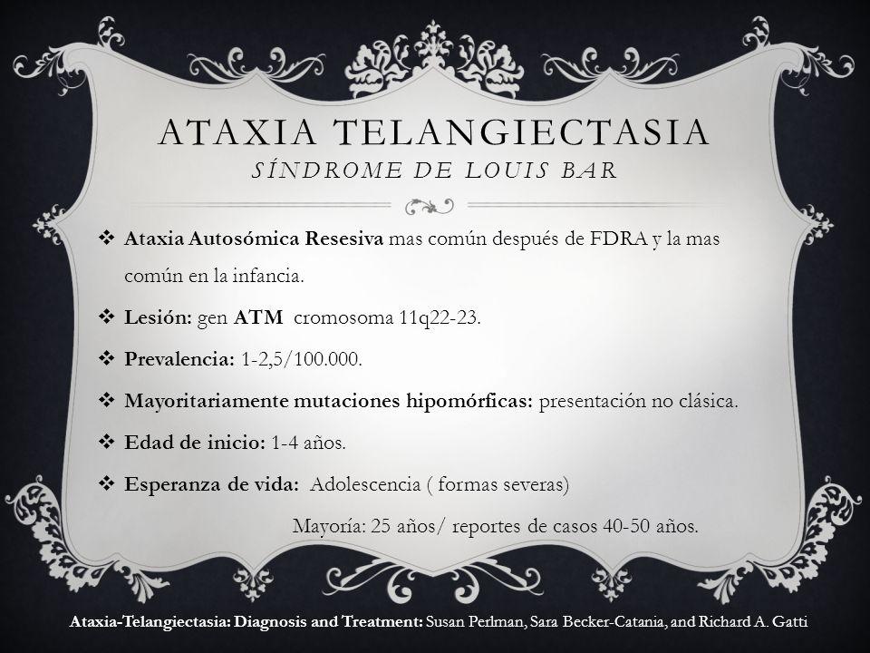 Ataxia telangiectasia síndrome de louis bar