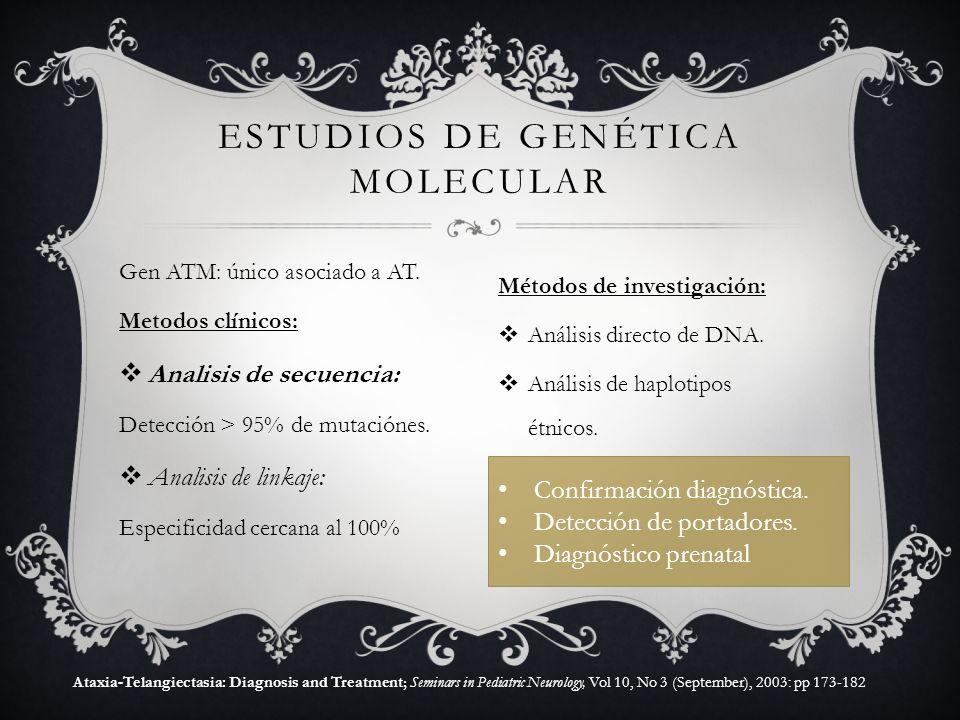 estudios de genética molecular