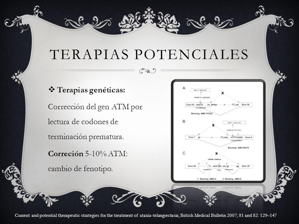 Terapias potenciales Terapias genéticas: