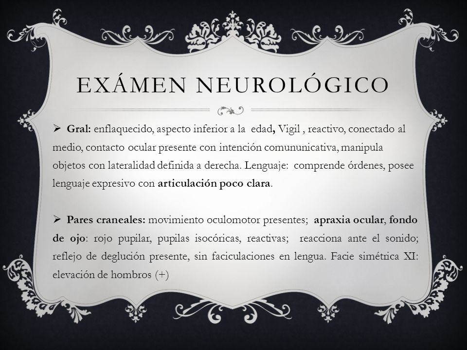 Exámen neurológico