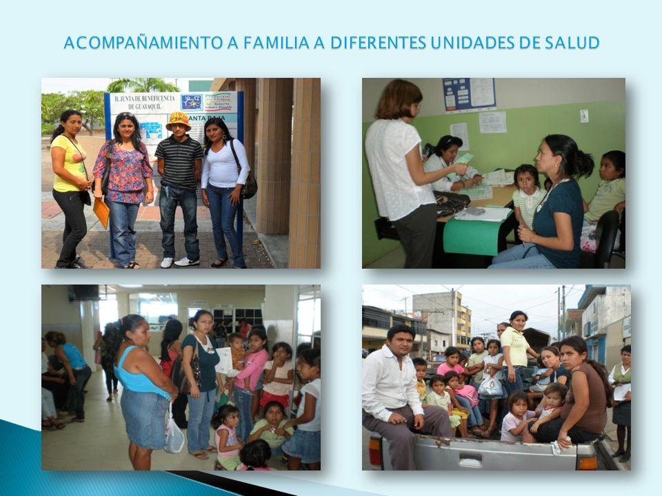 ACOMPAÑAMIENTO A FAMILIA A DIFERENTES UNIDADES DE SALUD