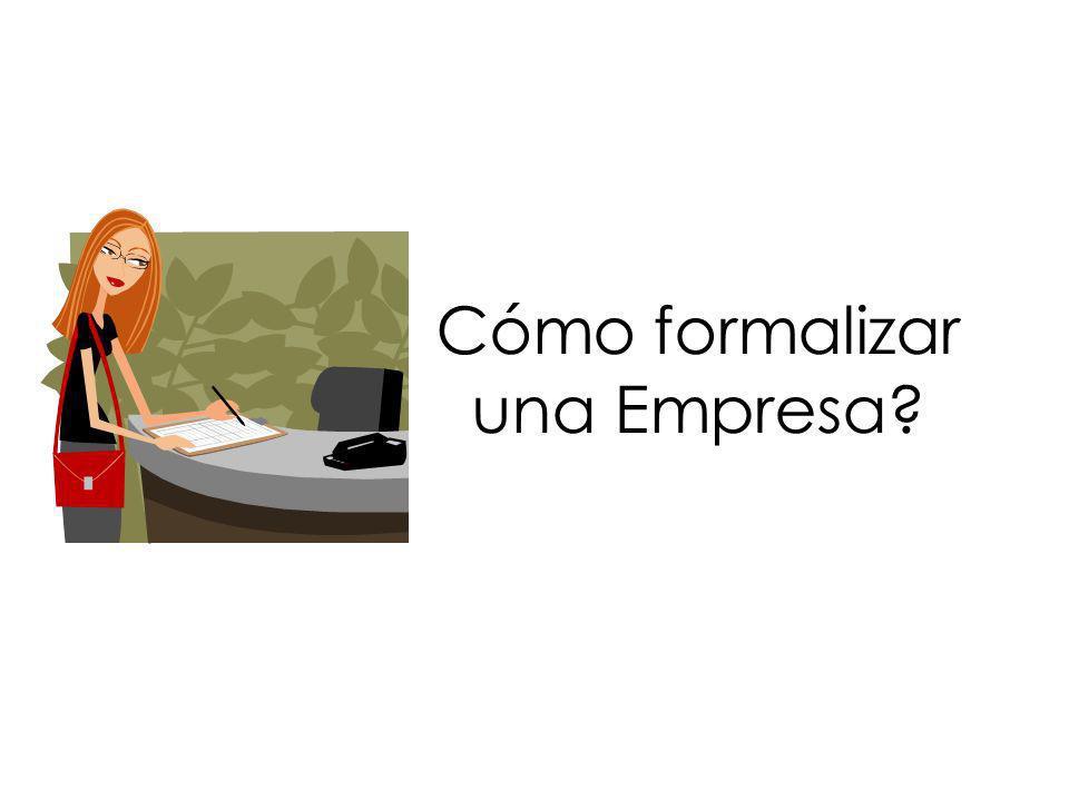Cómo formalizar una Empresa