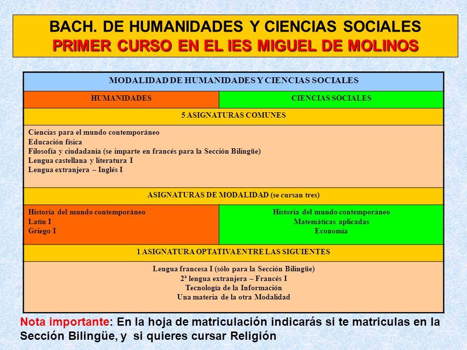BACH. DE HUMANIDADES Y CIENCIAS SOCIALES