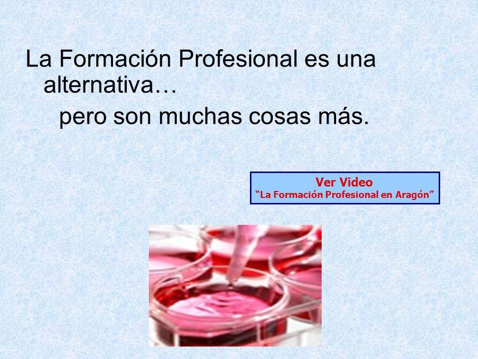 La Formación Profesional en Aragón