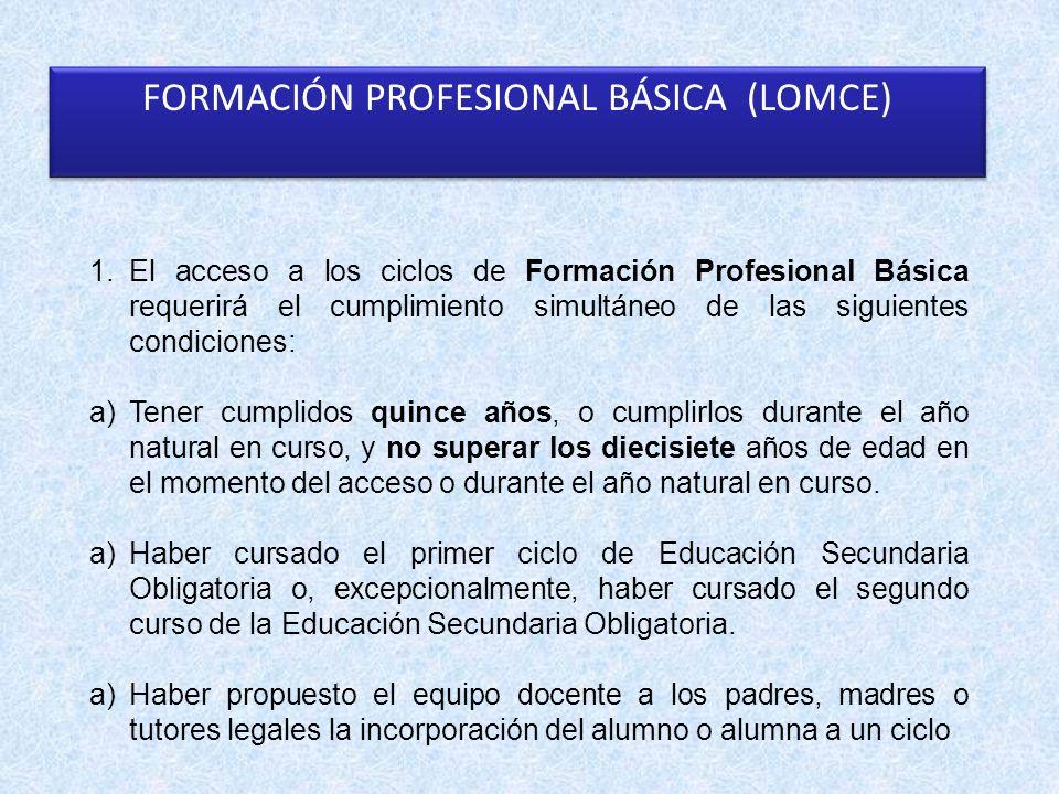 FORMACIÓN PROFESIONAL BÁSICA (LOMCE)