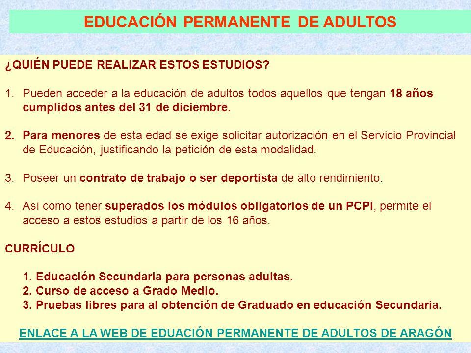 EDUCACIÓN PERMANENTE DE ADULTOS