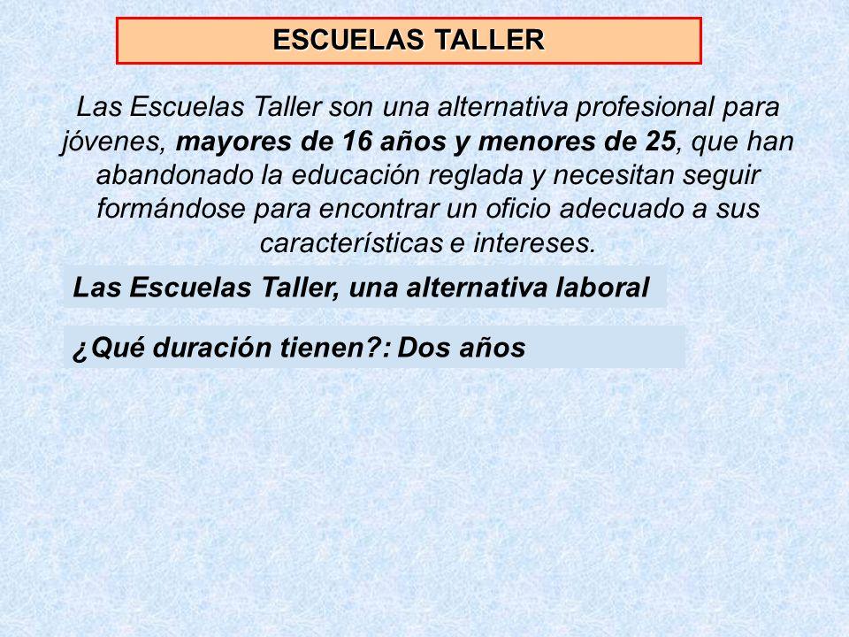 ESCUELAS TALLER