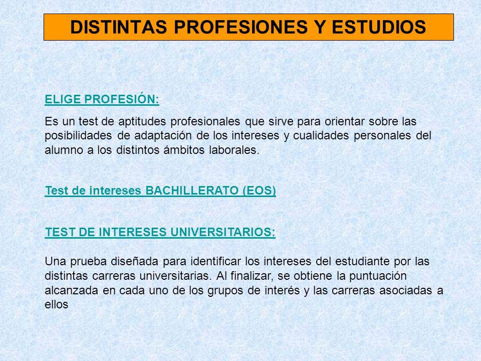 DISTINTAS PROFESIONES Y ESTUDIOS