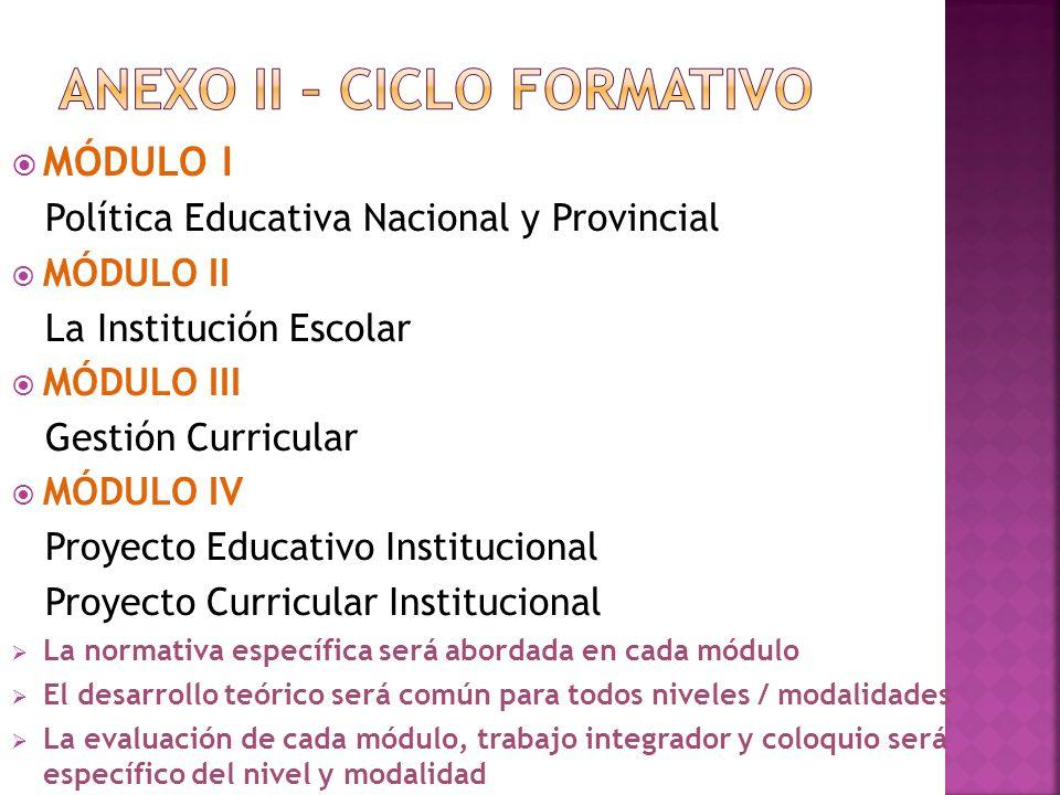 ANEXO II – CICLO FORMATIVO