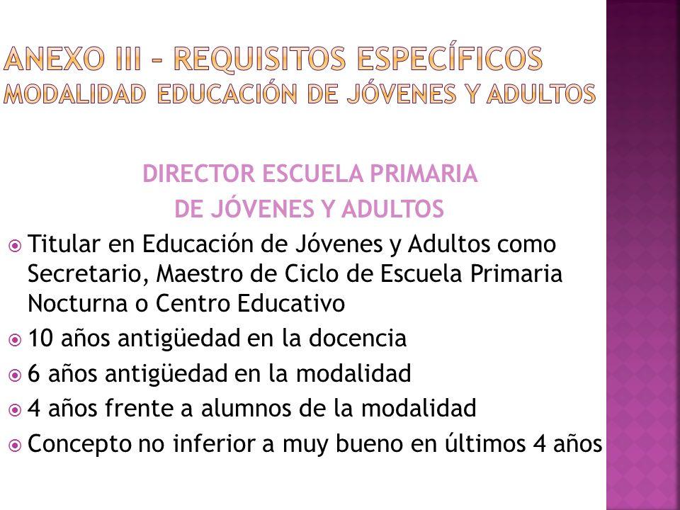 DIRECTOR ESCUELA PRIMARIA