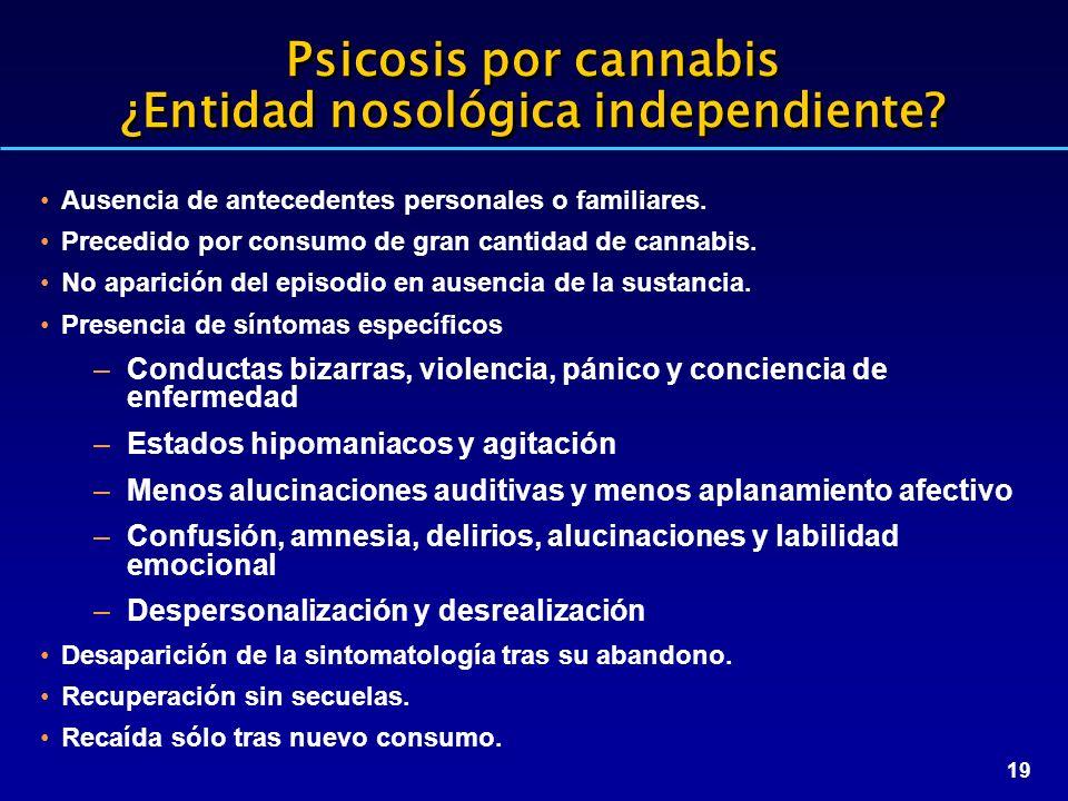 Psicosis por cannabis ¿Entidad nosológica independiente
