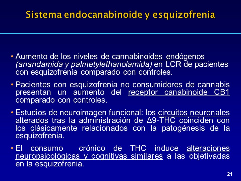 Sistema endocanabinoide y esquizofrenia