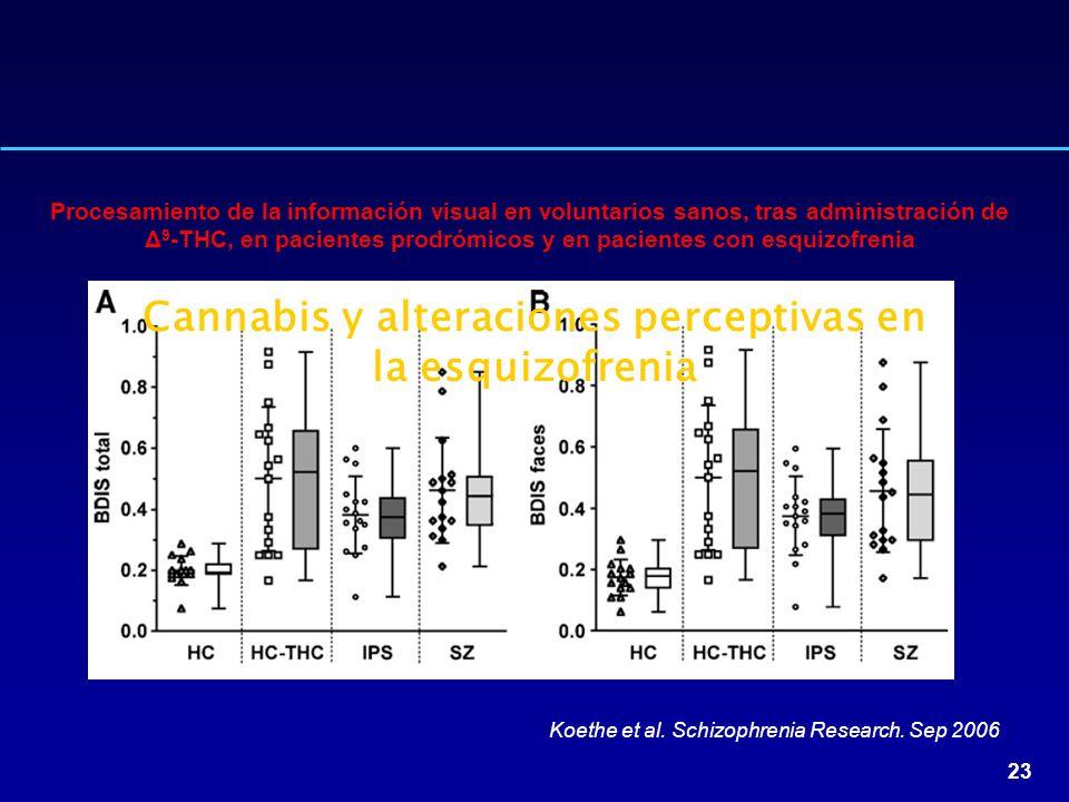 Cannabis y alteraciones perceptivas en la esquizofrenia