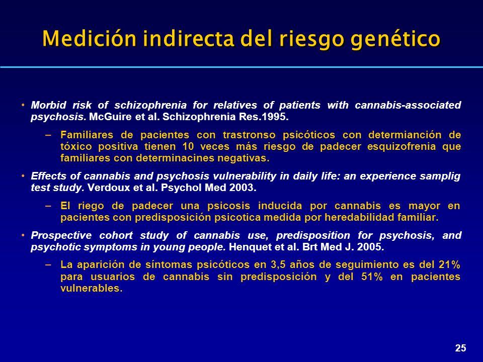 Medición indirecta del riesgo genético