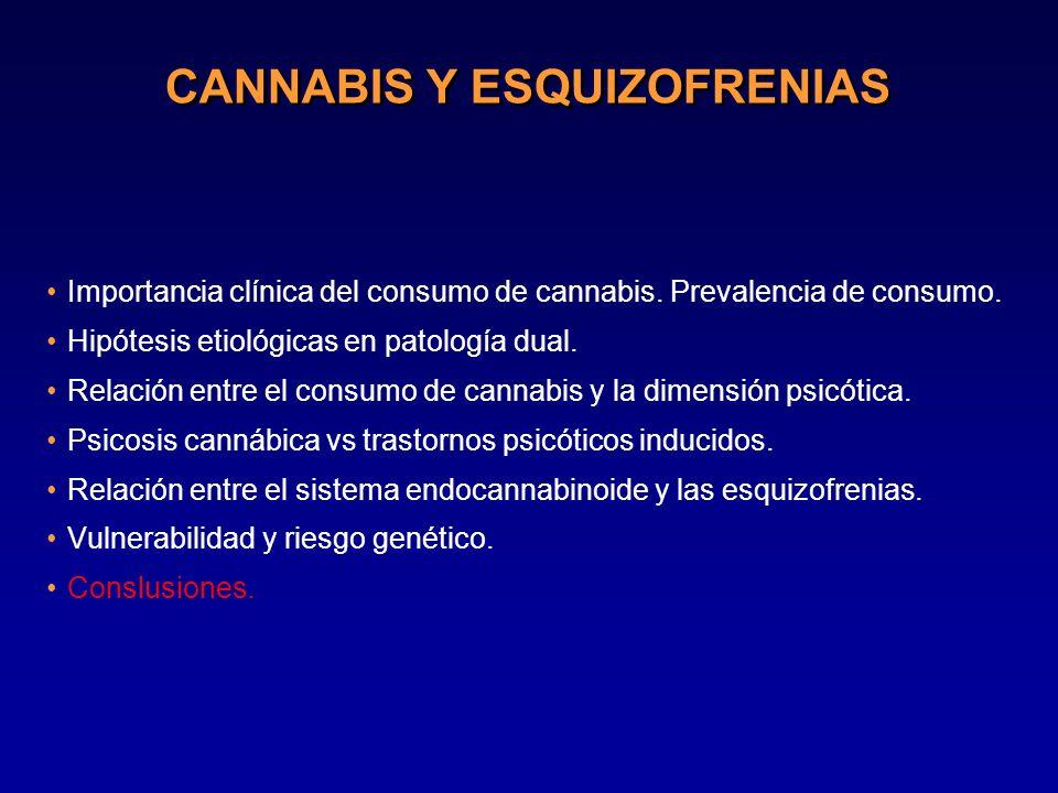 CANNABIS Y ESQUIZOFRENIAS